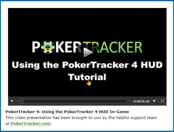 PokerTracker 4 HUD tutorial video.
