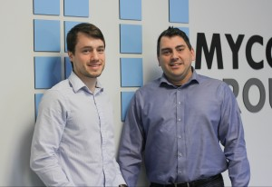 Mycodev CTO David Brown, CEO Brennan Sisk