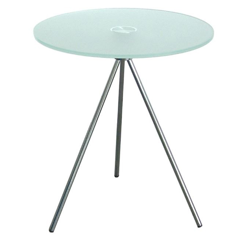 500mm round frosted glass coffee table