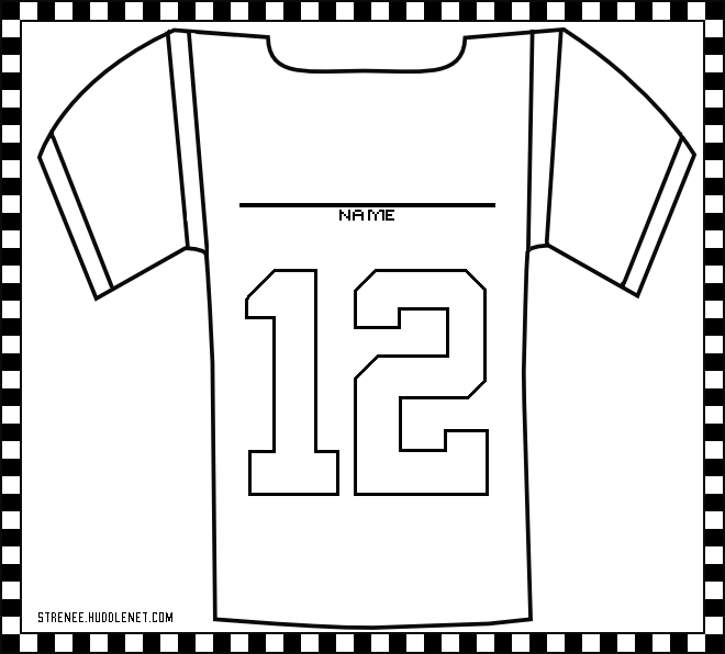 Hockey Jersey Pages Coloring Pages