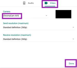 google meet backgrounds chromacam guide background virtual screen camera automatically ninth pop choose step menu