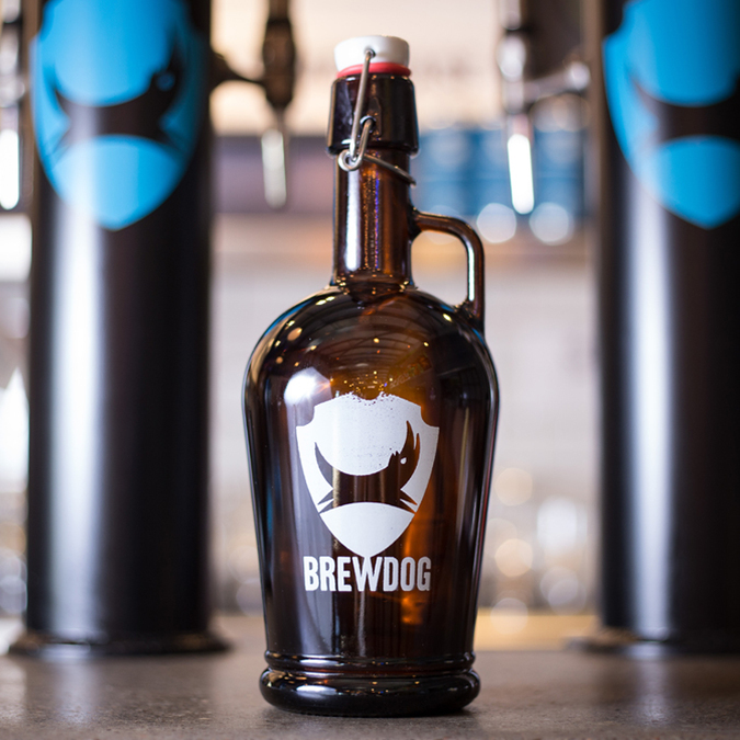 BrewDog 1L GLASS GROWLER (Hamarosan)