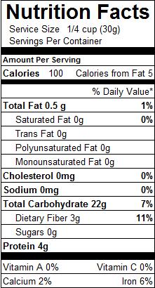 All Purpose Flour Nutrition Label : purpose, flour, nutrition, label, Purpose, Flour, Nutrition, Label, Labels, Database
