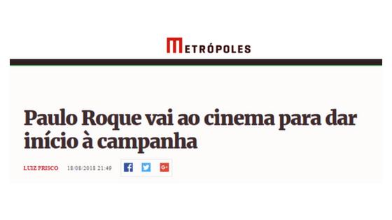 Lançamento da campanha de Paulo Roque ao senado é destaque no Metrópoles