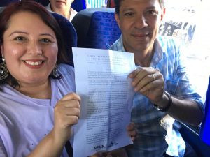 FENAJ entrega a Fernando Haddad sua Carta Aberta aos presidenciáveis