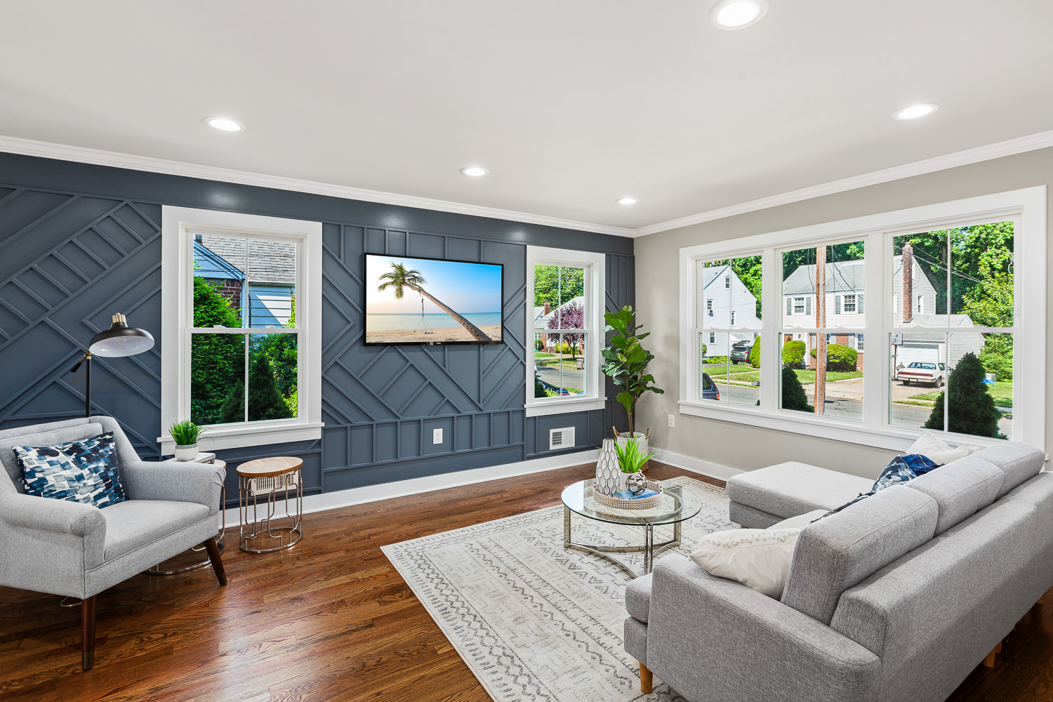 living room picture, real estate photography NJ