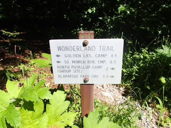 Wonderland Sign At North Fork Of The Puyallup Camp