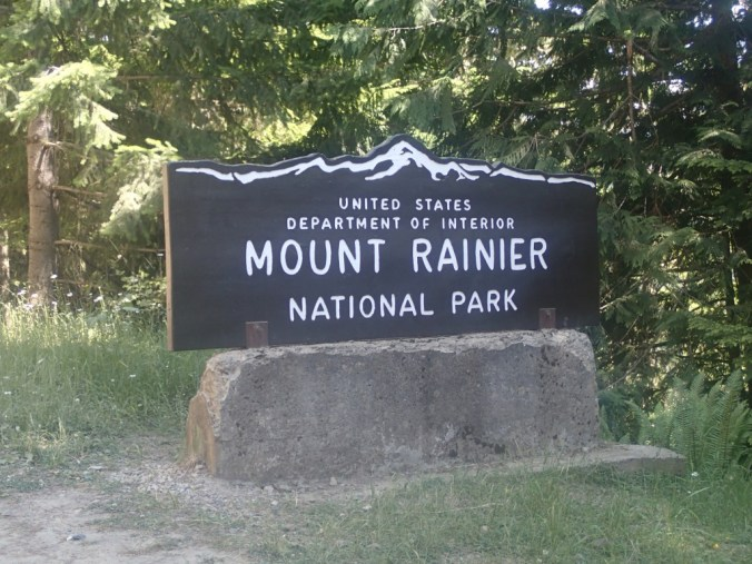 Mount Rainier National Park Sign