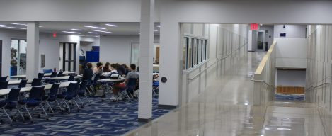 A view of the High School STEM commons classroom space.