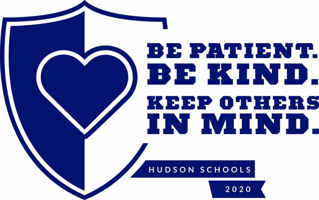 Shield with heart with the saying - Be Patient. Be Kind. Keep Others in Mind.