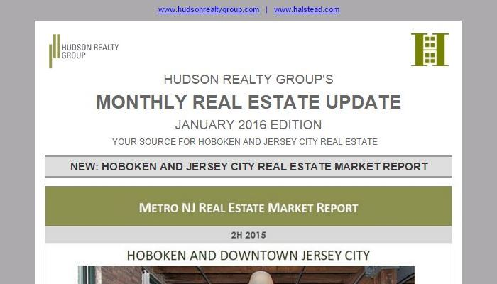 Hudson Realty Group Update – January 2016 Edition  |  Hoboken and Jersey City Real Estate