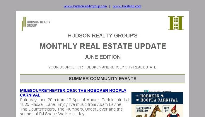 Hudson Realty Group Update – June 2015 Edition  |  Hoboken and Jersey City Real Estate
