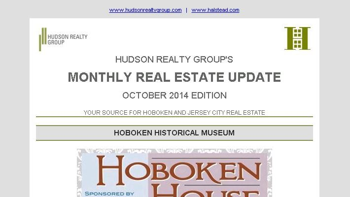 Hudson Realty Group Update – October 2014 Edition  |  Hoboken and Jersey City Real Estate