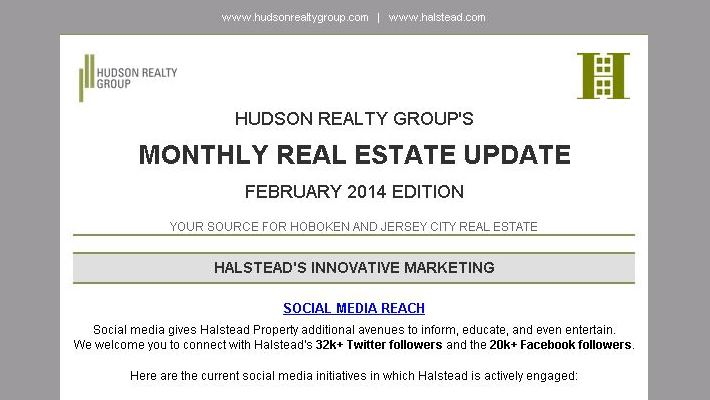 Hudson Realty Group Monthly Update – February 2014 Edition  |  Hoboken and Jersey City Real Estate