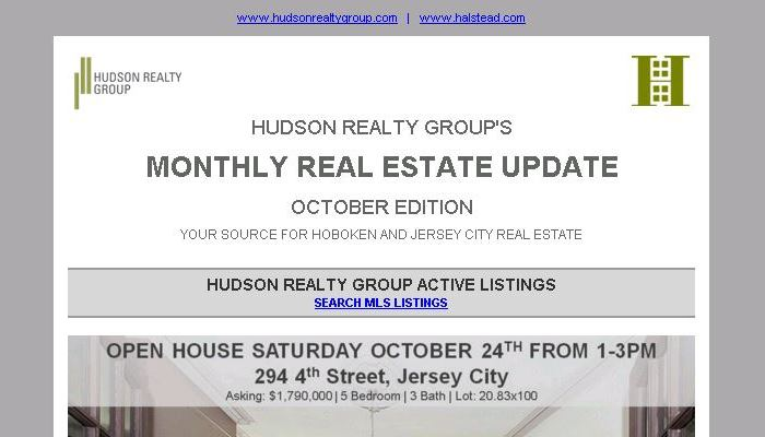 Hudson Realty Group Update – October 2015 Edition  |  Hoboken and Jersey City Real Estate