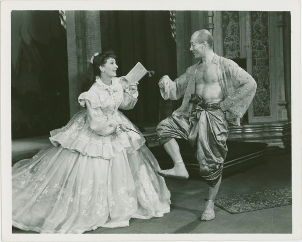Gertrude Lawrence & Yul Brynner in the original stage production of The King and I in 1951