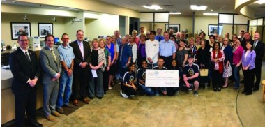 Bank of Greene County representatives present local non-profit organizations with donations from the Bank's Charitable Foundation at the Greenport branch.