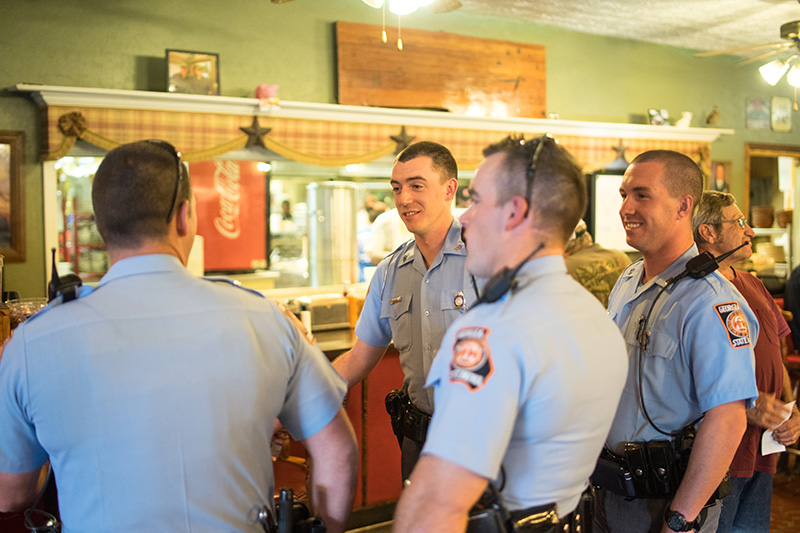 Picture of Georgia State Patrol after dinner at Hudsons