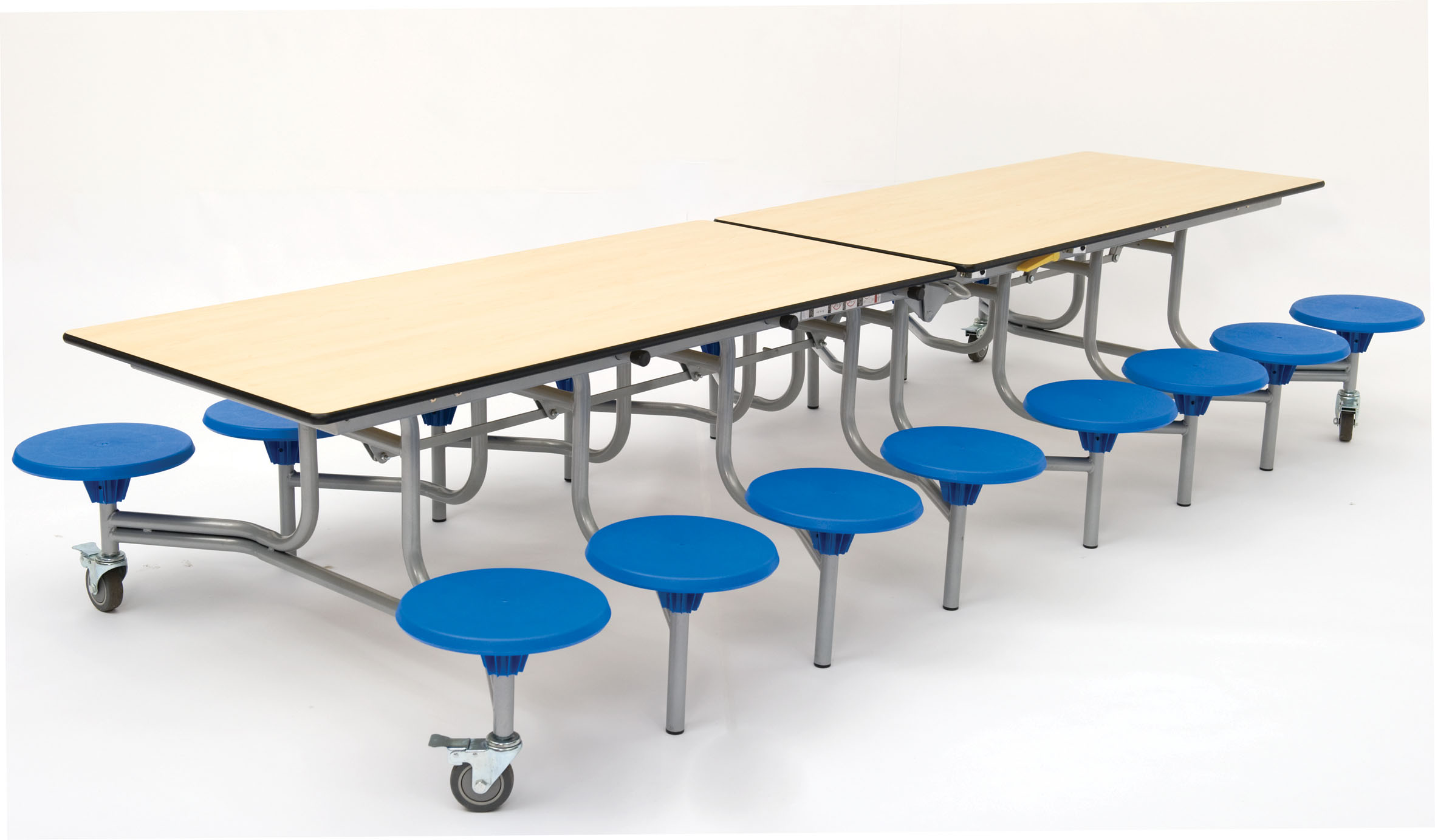 School Table And Chairs Folding Mobile Rectangular School Dining Table Seats 16