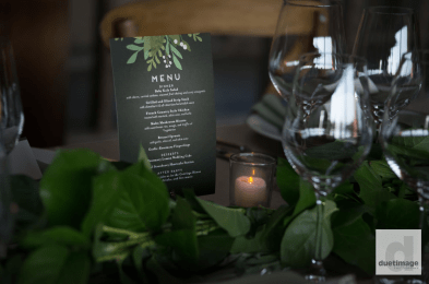 Menu in among the greenery