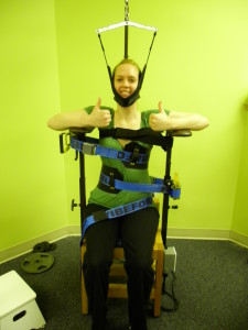 scoliosis vibration traction