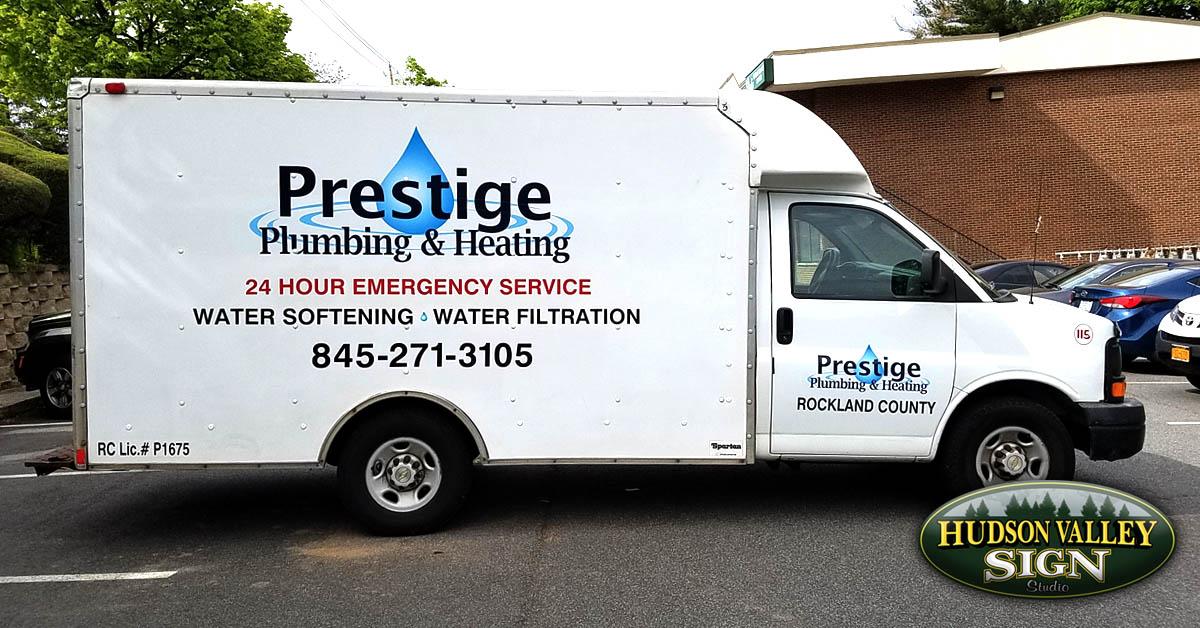 Prestige Plumbing  Heating  Hudson Valley Signs