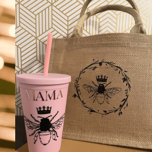 Queen Bee Tote and Tumbler