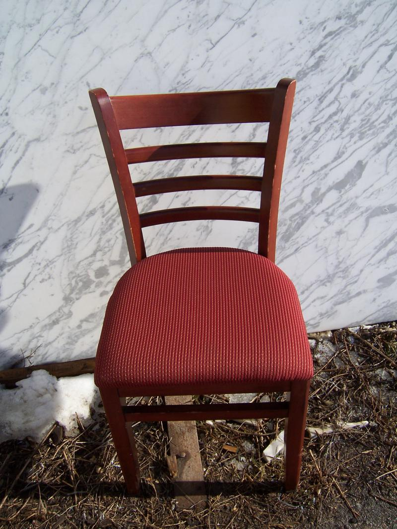 used restaurant chairs chair covers from target hudson wholesalers equipment furniture 8 cherry w maroon designed fabric seat 39