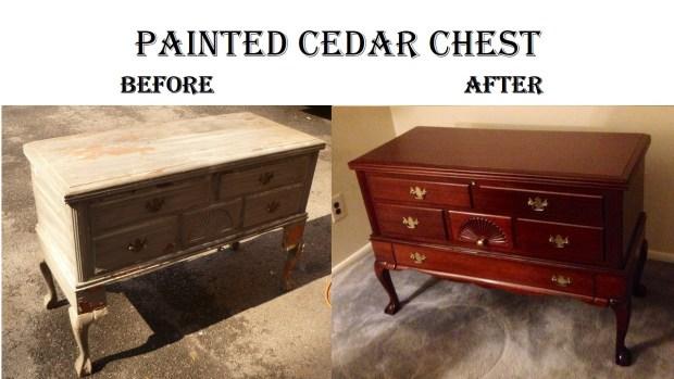 Painted Cedar Chest