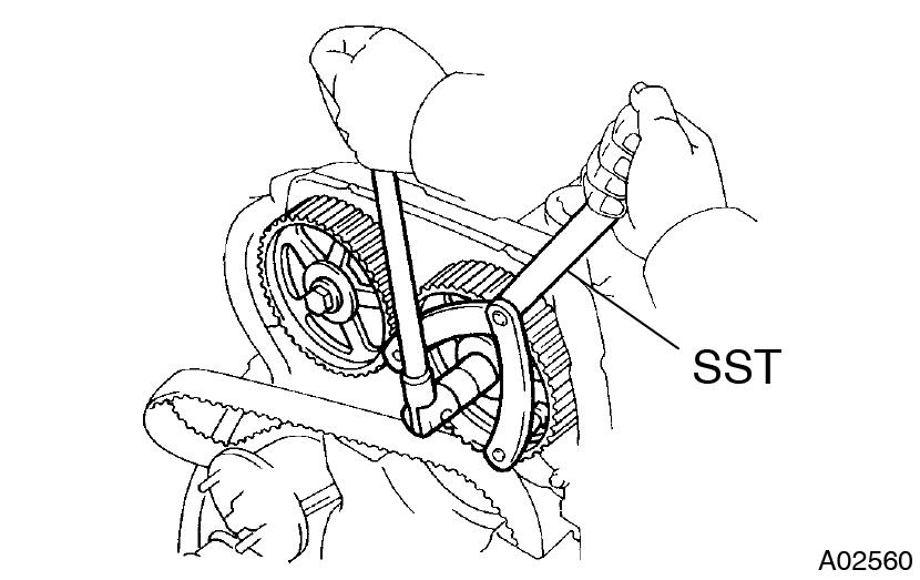 Toyota Supra JZA80 / 2JZ-GTE Engine / Timing belt removal