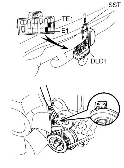 Toyota Supra JZA80 / Diagnostics / Pre-check. 2JZ-GE engine