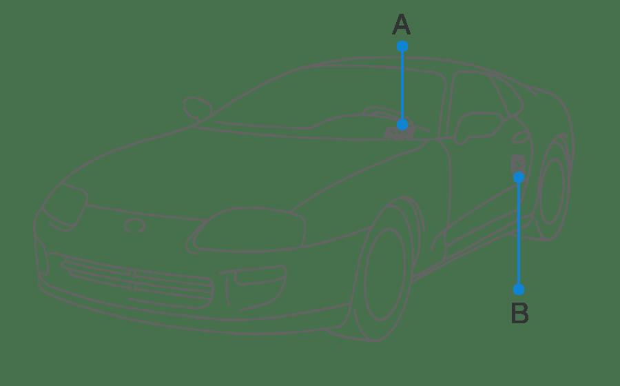 Toyota Supra JZA80 / Introduction / Identification information