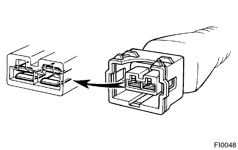 Toyota Supra JZA80 / Introduction / Connector connection