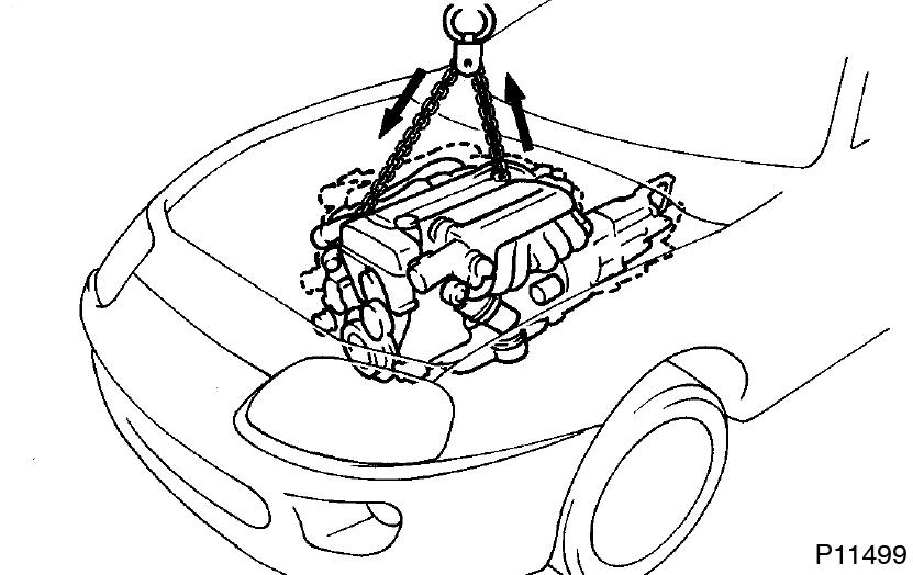 Toyota Supra JZA80 / 2JZ-GE Engine / Engine unit installation