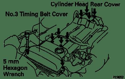 Toyota Supra JZA80 / 2JZ-GE Engine / Cylinder head removal