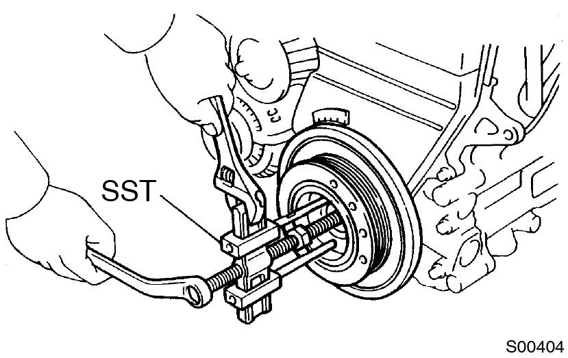 Toyota Supra JZA80 / Двигатель 2JZ-GE / Снятие ремня*
