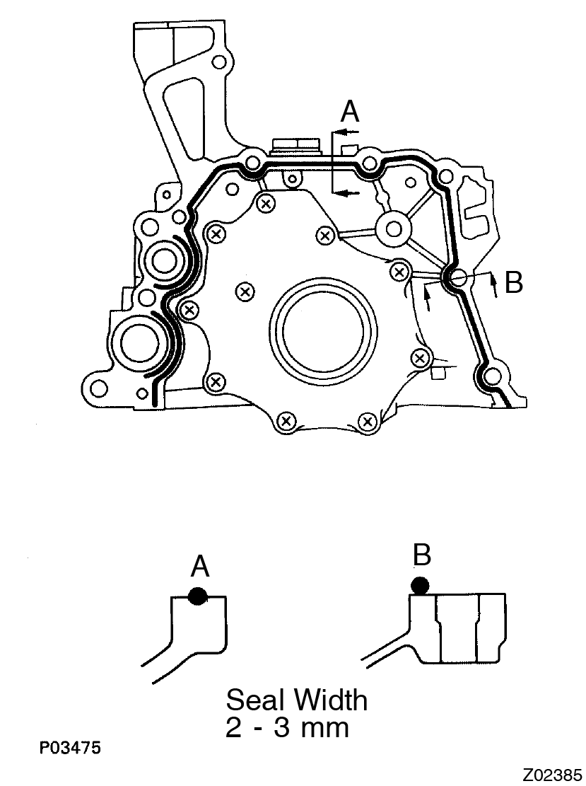 Toyota Supra JZA80 / Lubrication / Oil pump installation