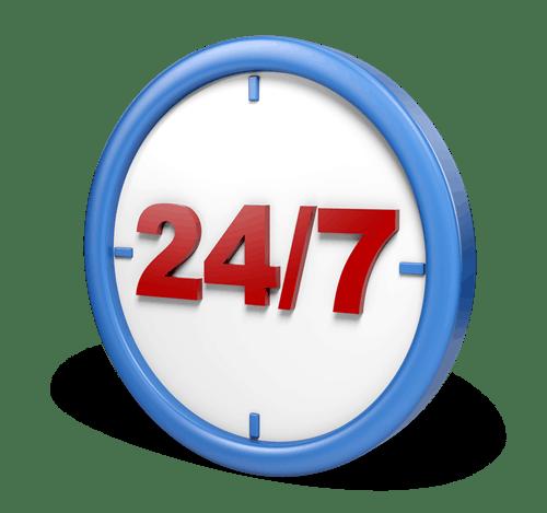 Service rund um die Uhr – 7 Tage die Woche