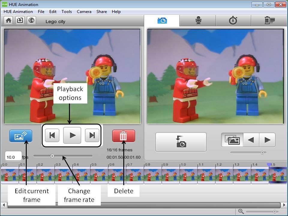 screenshot HUE Animation software