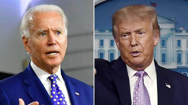 Donald Trump y Joe Biden está noche en el primer debate presidencial de 2020