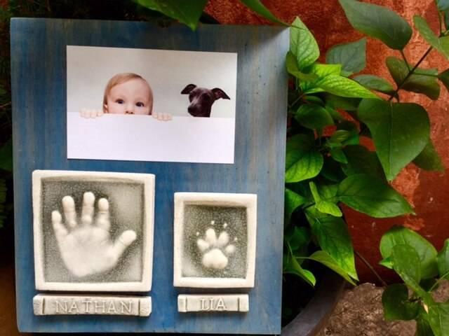 Las huellas de tu niño y perrito, un regalo original y entrañable