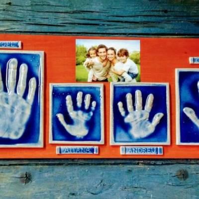 huellas familia ceramica