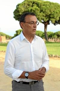 El presidente de la Diputación considera vital el proyecto del aeropuerto. / Foto: Laura Cebrino.