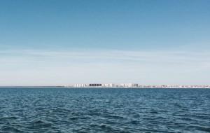 Punta Umbría desde el mar.