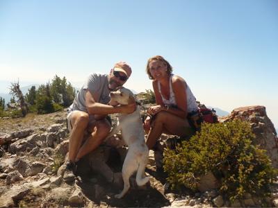 ... with me and Sammy, the bound-around hound