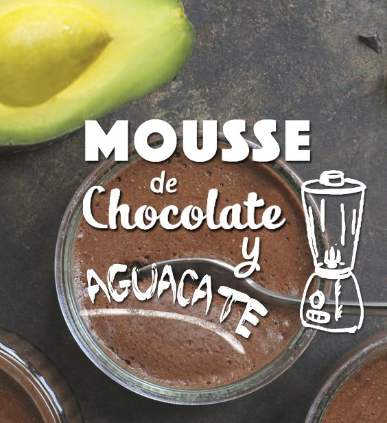 receta mousse chocolate y aguacate