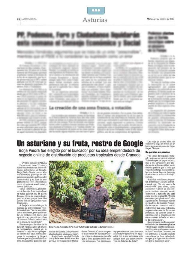 portada periódico la nueva españa