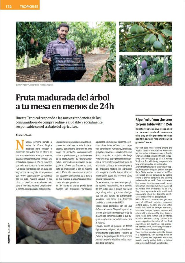 Revista Mercados Fruta madurada del árbol a tu mesa