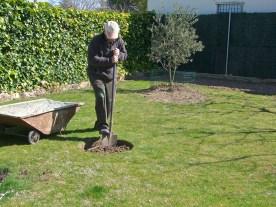 Preparando el hoyo