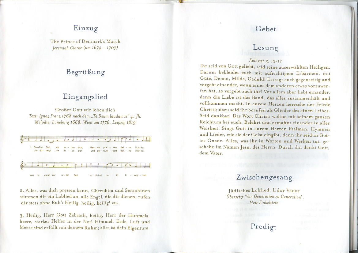 Dokument zur Trauung von Sophie und Georg Friedrich Prinzenpaar von Preuen